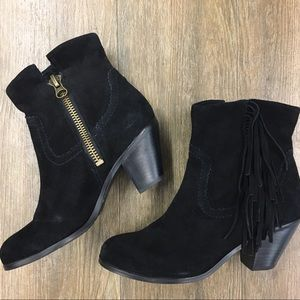 Sam Edelman ankle boots with fringe   6.5